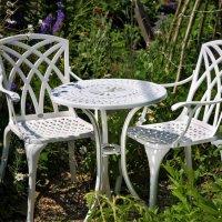 EVE Tavolino da bistrot - Bianco (2 sedie)