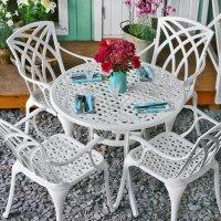 HANNAH Tavolo - Bianco (4 sedie)