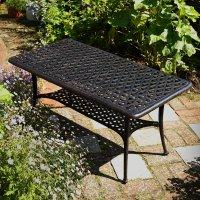 Rectangular_Cast_Aluminium_Metal_Garden_Furniture_Side_Table_1