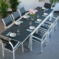 VIOLET Tavolo - Bianco & Grigio (8 sedie)