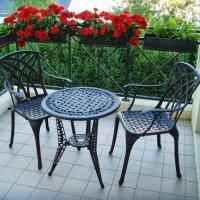 IVY Tavolino da bistrot - Bronzo antico (2 sedie)
