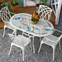 ELISE Tavolo - Bianco (4 sedie)