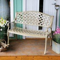 Jasmine metal garden bench Sandstone
