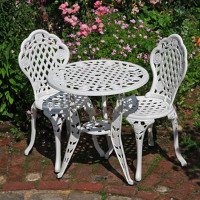 Rose Bistro Set - White (2 seater set)