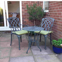 London Rose Table - Slate (2 Seater Set)