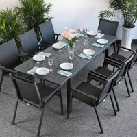 Adaptability makes this Virginia Grey 6 Seater table ideal for any home.
