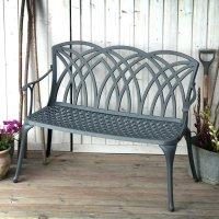 Slate April Metal Garden Bench