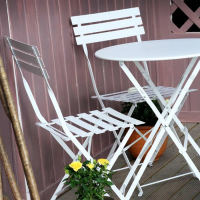 ALESSIA Set Bistrot - Bianco (4 sedie)