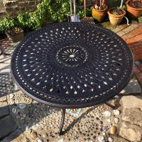 Alice 120cm Round garden table top