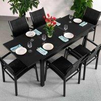 6_Seater_Modern_Aluminium_Glass_Top_Black_Extending_Garden_Furniture_Outdoor_Dining_Table_Set_17
