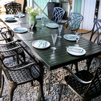 8 seater extension garden table 7