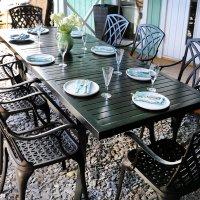 Deborah Metal Extension Garden Table 45
