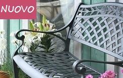 ROSE Panchina da giardino in metallo Grigio Ardesia