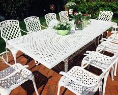 Mobili da giardino in metallo mobili da giardino di for Tavoli estensibili