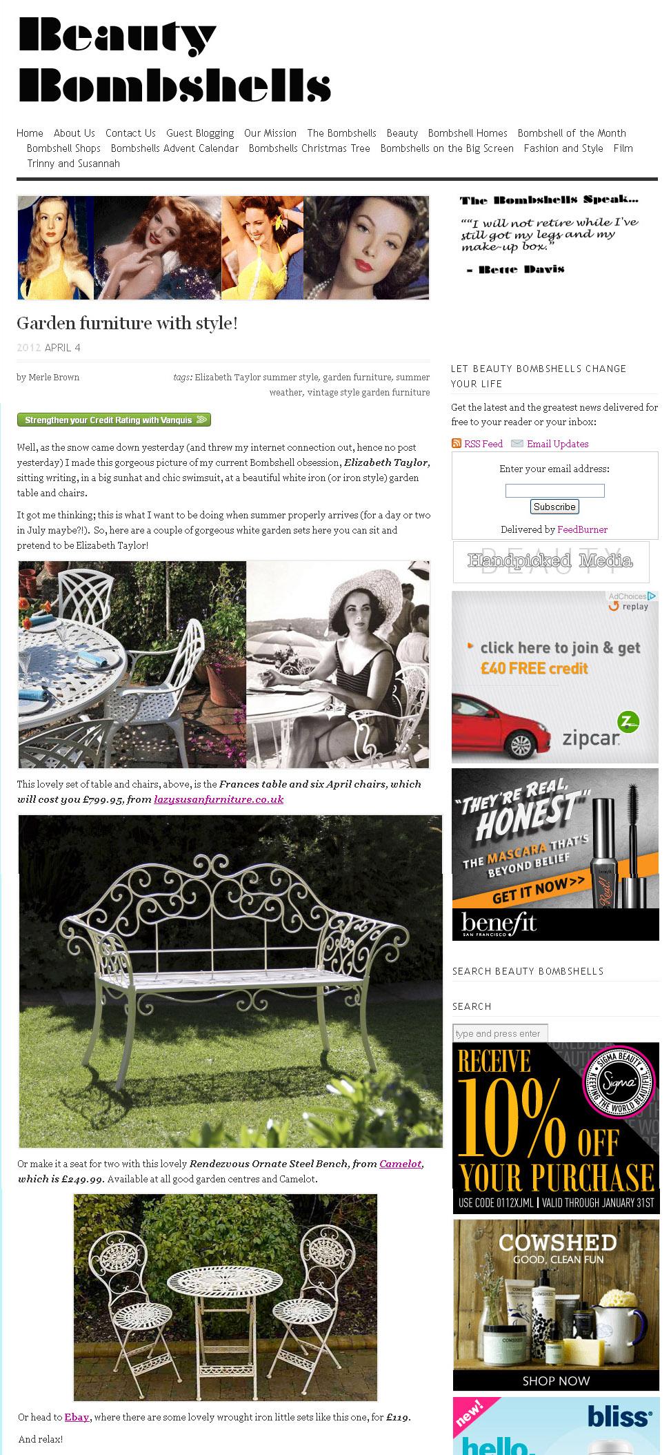Lazy Susan mobili da esterno giradino terrazza alluminio metallo